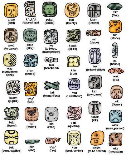 leçon des glyphes maya