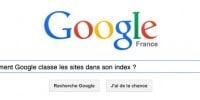 Comment Google classe les sites dans son index ?