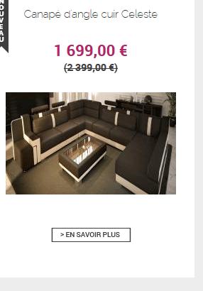 Achetez un canap d 39 angle pas cher chez lecoin design for Quel site pour trouver un hotel pas cher