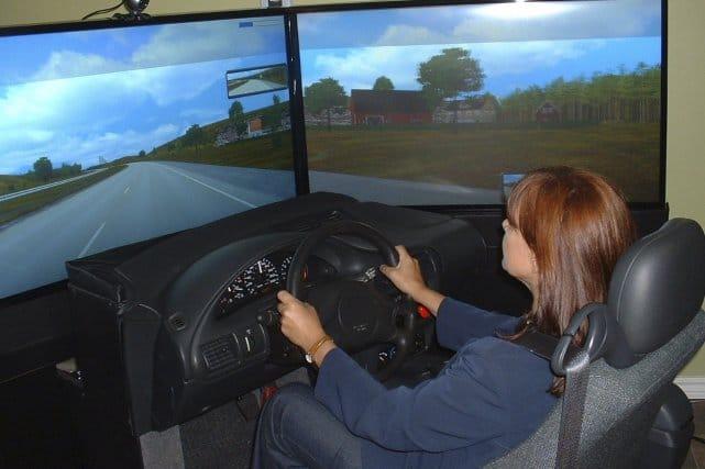 Simulateur de conduite en auto école