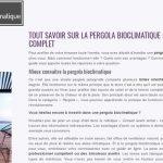 Où trouver toutes les informations sur la pergola bioclimatique?
