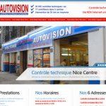 Centre de contrôle technique dans la ville de Nice