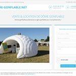 Quelle est la société de location et de vente des dômes gonflables ?