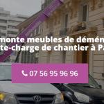 Quelle est la meilleure entreprise de location de monte meubles à Paris ?