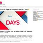 Quelles sont les promos de French Days 2019 ?