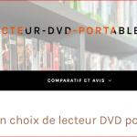 Quel est le meilleur comparatif de lecteur DVD portable ?